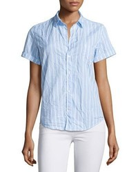 Chemise de ville à rayures verticales bleue Frank And Eileen
