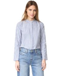 Chemise de ville à rayures verticales bleue Madewell