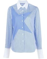Chemise de ville à rayures verticales bleue Tome