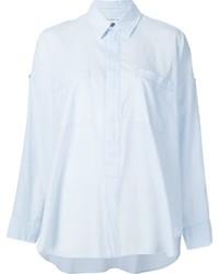Chemise de ville bleue claire Helmut Lang