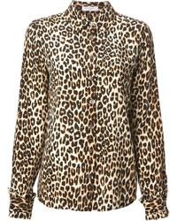 Chemise de ville imprimée léopard brune claire Equipment