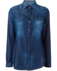 Chemise en jean bleue marine Diesel