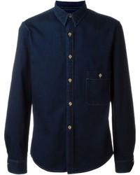 Chemise en jean bleue marine Lemaire