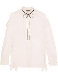Chemise en soie blanche Gucci