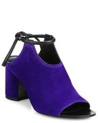 Chinelas de ante en violeta