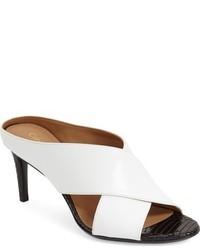 Chinelas de Cuero Blancas de Calvin Klein