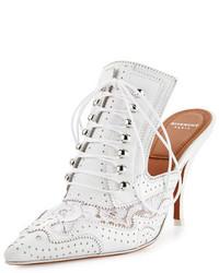 Chinelas de cuero blancas de Givenchy