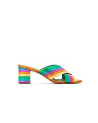 Chinelas de cuero en multicolor de Blue Bird Shoes