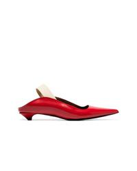 Chinelas de cuero rojas de Proenza Schouler