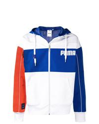 Chubasquero en blanco y azul de Puma