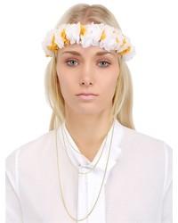 Cinta para la cabeza con print de flores blanca