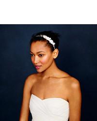 Cinta para la cabeza con print de flores blanca de J.Crew