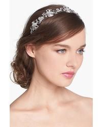 Cinta para la cabeza con print de flores plateada de Nina