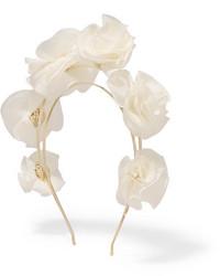 Cinta para la cabeza de seda blanca de Rosantica