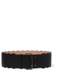 Cinturón de cuero con adornos negro de Alaia