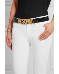 Cinturón de Cuero con Adornos Negro de Moschino  dónde comprar y ... d897eaeabf9