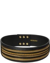Cinturón de cuero con adornos negro de PIERRE BALMAIN