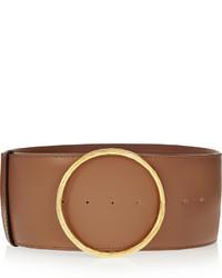 Cinturón de cuero marrón de Stella McCartney