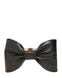 Cinturón de cuero negro de Balmain