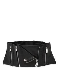 Cinturón de cuero negro de Jean Paul Gaultier