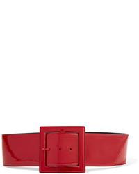 Cinturón de cuero rojo de Saint Laurent