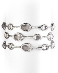 Ippolita 925 Rock Candy Eight Stone Bangle In Clear Quartz