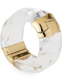 Alexis Bittar Liquid Side Hinge Cuff Bracelet Clear
