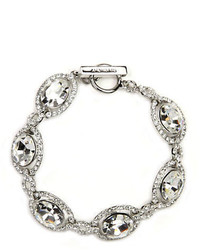 Givenchy Silver Tone Crystal Toggle Bracelet