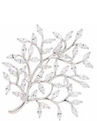 Cz By Kenneth Jay Lane Cubic Zirconia Tree Brooch