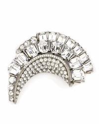Half moon crystal brooch medium 7010254