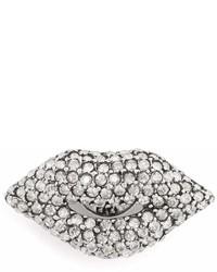 Sonia Rykiel Lips Crystal Embellished Pin Brooch