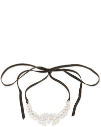 Fallon Monarch Leather Crystal Choker Necklace