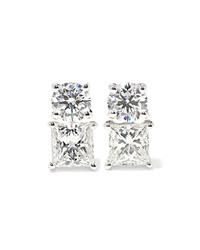 Anita Ko 18 Karat White Gold Diamond Earrings