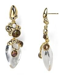 Alexis Bittar Lucite Smoky Quartz Dangle Earrings