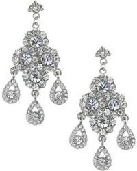 Nina Andrea Rhodiumczech Crystal Earrings