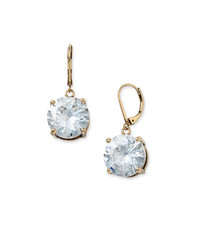 Betsey Johnson Round Crystal Earrings Crystal