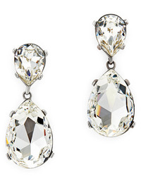 Kenneth Jay Lane Clear Drop Earrings