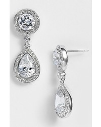 Crystal cubic zirconia drop earrings medium 398164