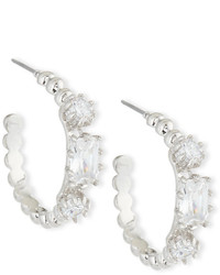 Eddie Borgo Crystal Estate Hoop Earrings