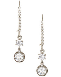 Betsey Johnson Cz Crystal Line Earrings