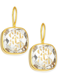 Dina Mackney Clear Quartz 19k Gold Vermeil Drop Earrings