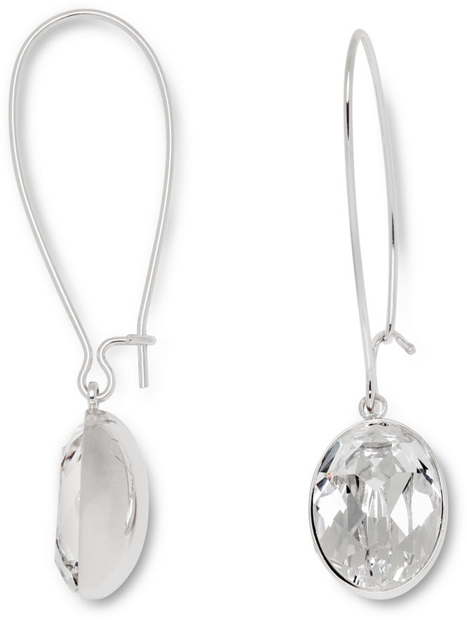 Swarovski Earrings Puzzle Clear Crystal Drop
