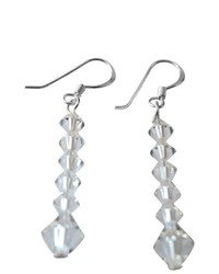 FashionJewelryForEveryone Sparkling Fashionable Clear Crsytals Earrings