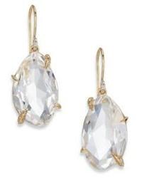 Alexis Bittar Fine Golden Ice Marquis Clear Quartz Diamond 14k Yellow Gold Drop Earrings
