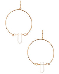 Free Press Frontal Hoop With Quartz Drop Earrings