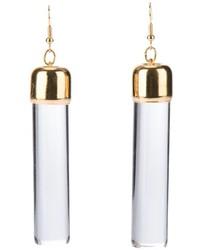Garter Clear Tube Earrings