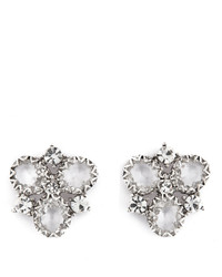 Badgley Mischka Jewelry Crystal Cluster Earrings