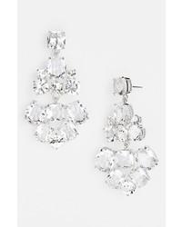 kate spade new york Chandelier Earrings Clear Silver