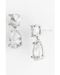 kate spade new york Drop Earrings Clear Silver