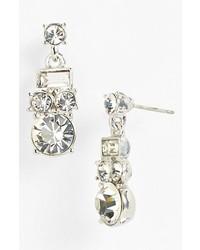 kate spade new york Estate Sale Drop Earrings Silver Clear
